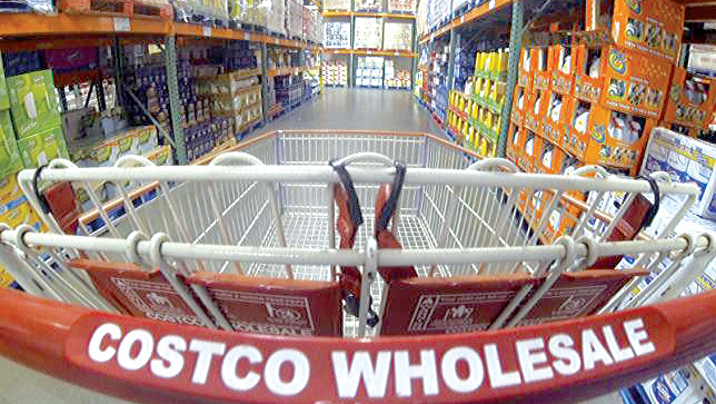 A Costco wholesale store in Carlsbad, California, yesterday. PHOTO: REUTERS