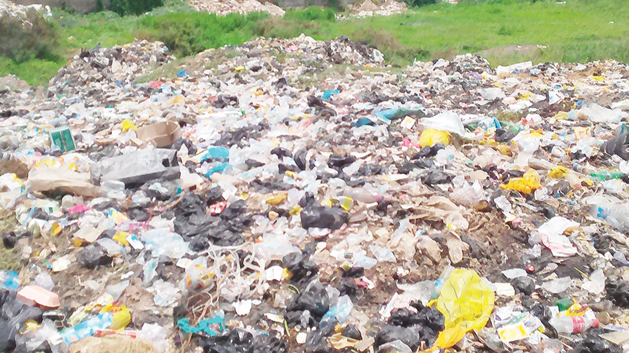 Heap of refuse at Dakinbiu area of Jabi, Abuja.