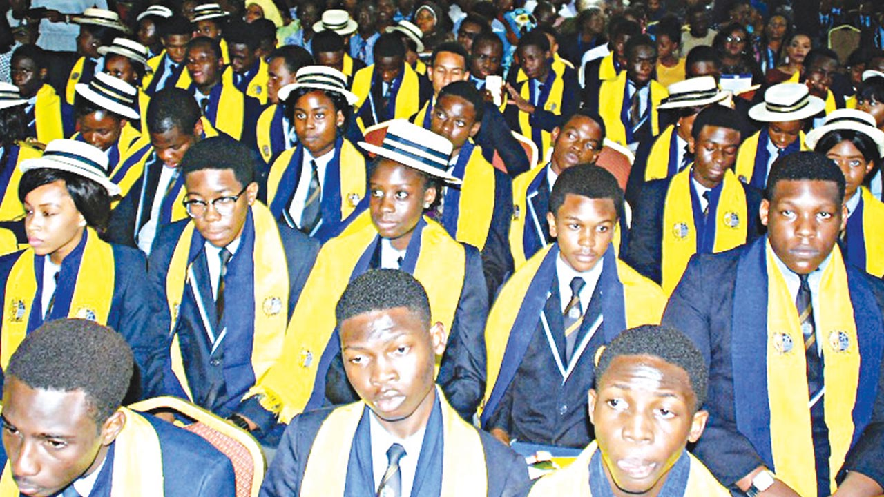Cross section of graduating students of Dowen College, Lekki, Lagos