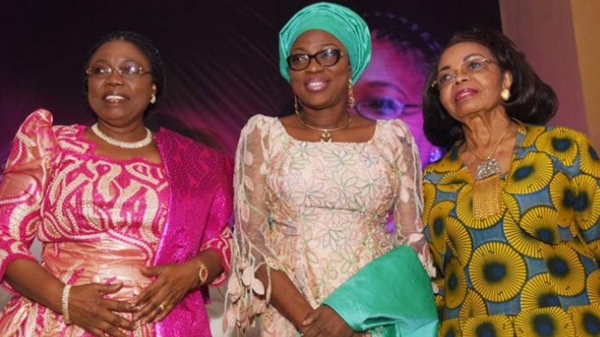 L-R: Celebrant, Dr. Ibironke Sodeinde; Wife of Lagos State Governor,  Mrs. Bolanle Ambode
