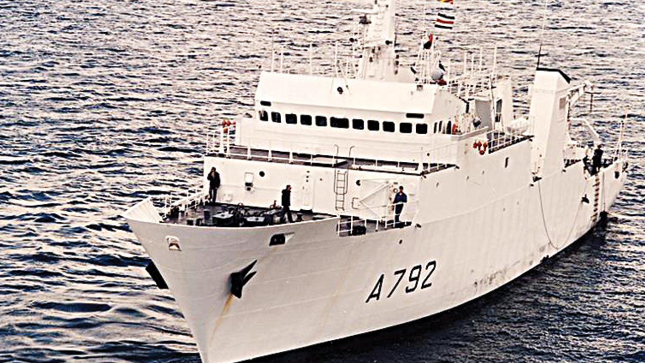 French naval vessel Laplace of the Laperouse class, pictured, received the signals, Egypt's Civil Aviation Ministry said PHOTO: AL JAZEERA