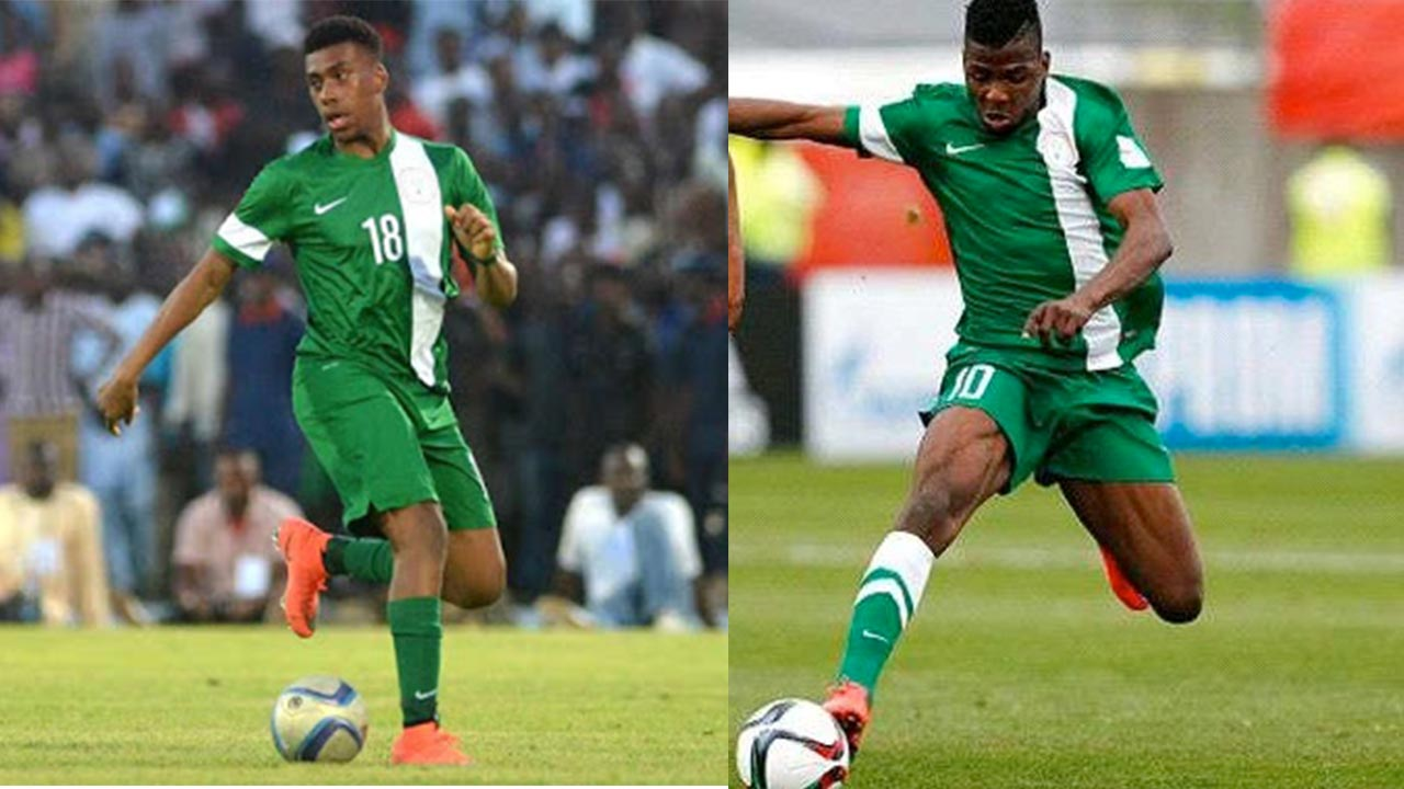 Coach Salisu Yusuf believes Kelechi Iheanacho (right) and Alex Iwobi will lead the Super Eagles to a glorious new era.