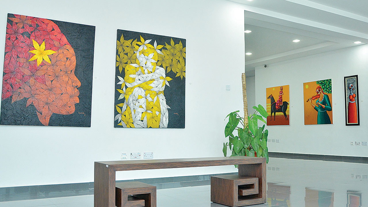 Art display at the ongoing maiden edition of Sterling One Art Exhibition