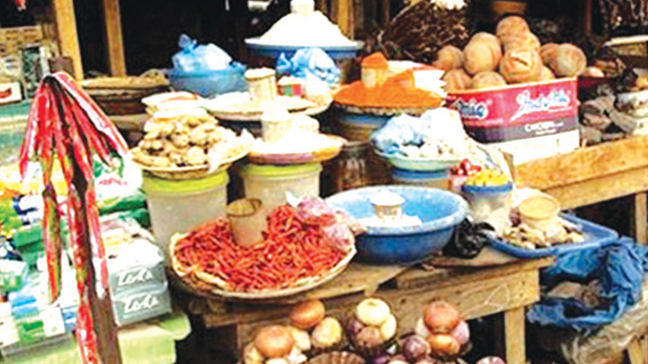 A food retail market in Lagos SOURCE: Google