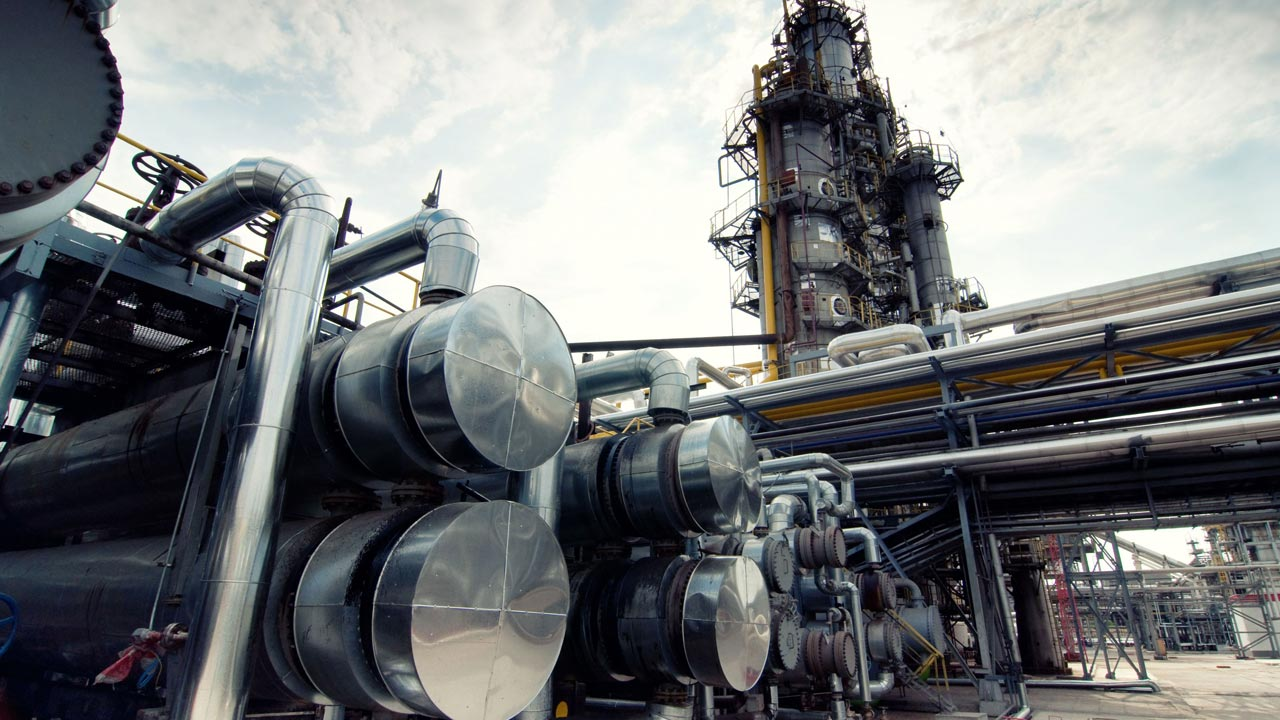 A gas processing plant