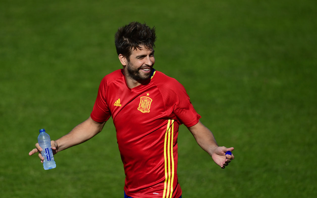 Spain's defender Gerard Pique . / AFP PHOTO / PIERRE-PHILIPPE MARCOU