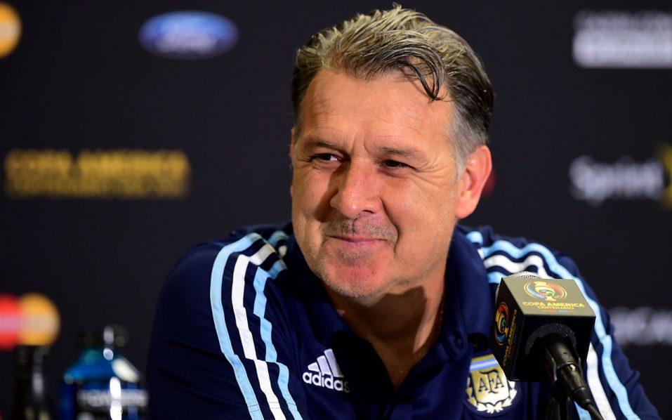 Argentina coach Gerardo Martino / AFP PHOTO / FREDERIC J. BROWN