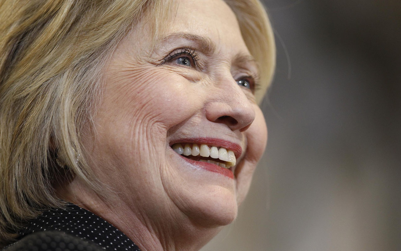 Hillary Clinton.  J.D. Pooley/Getty Images/AFP