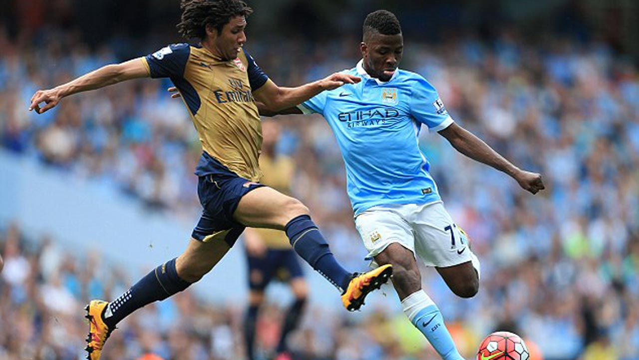 Brexit will not hamper the Premiership careers of such established stars as Kelechi Iheanacho (right) and Elneny. PHOTO: DAILMAIL.CO.UK.