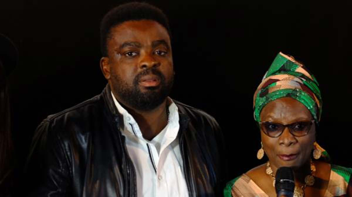 Angelique Kidjo (right) and Kunle Afolayan.. in Paris
