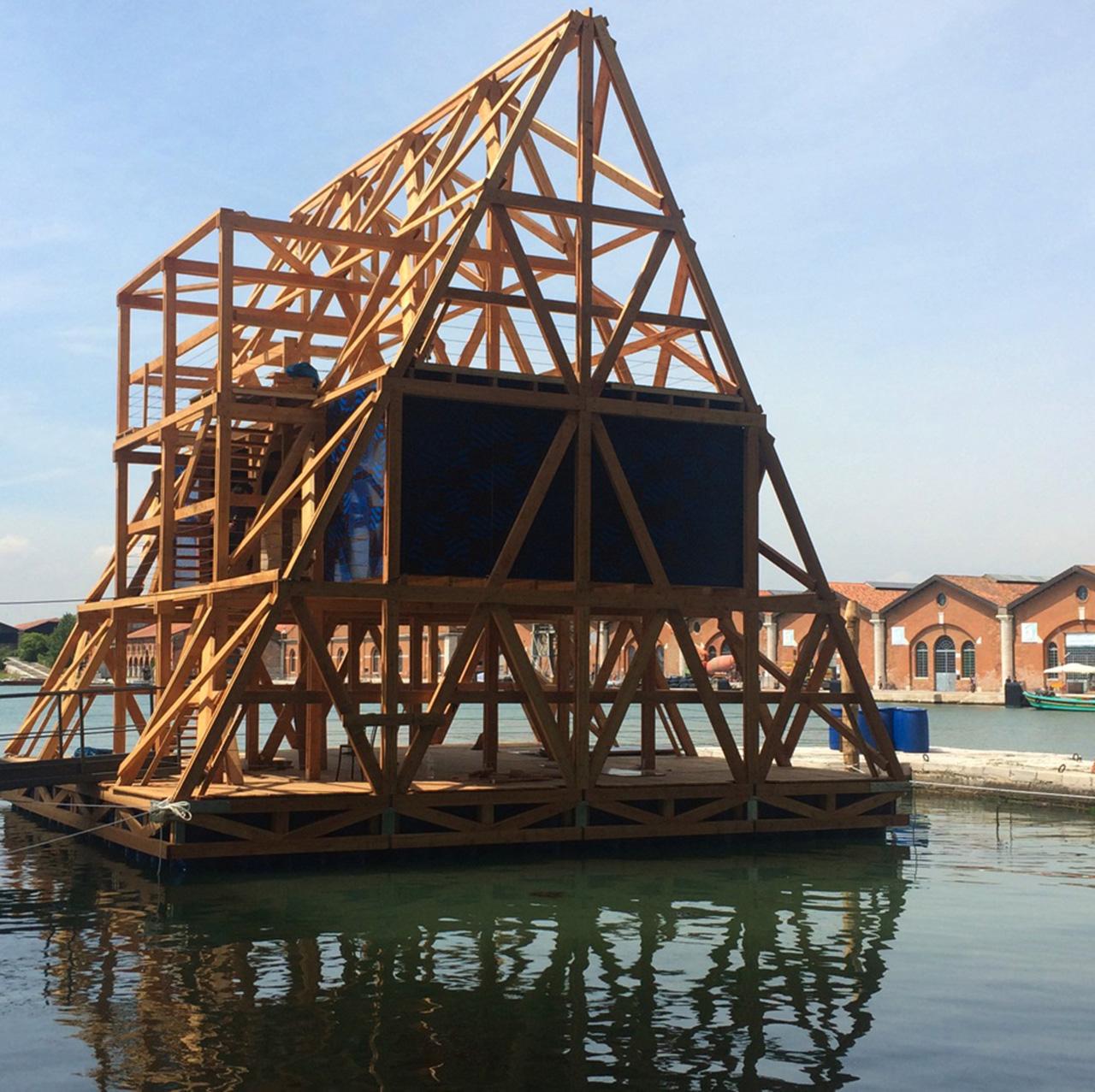 Award winning Kunle Adeyemi's Makoko Floating School at Venice Biennale