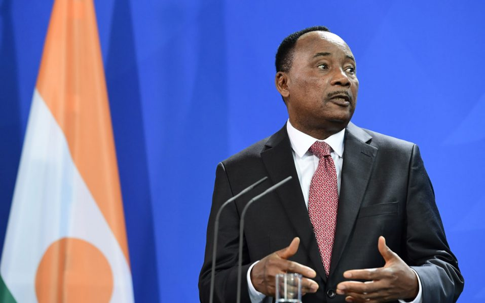 President of Niger Mahamadou Issoufou .  / AFP PHOTO / John MACDOUGALL