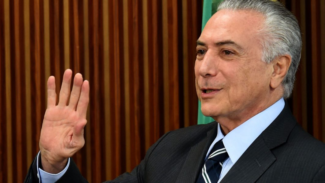 Brazilian acting President Michel Temer/ AFP PHOTO / EVARISTO SA