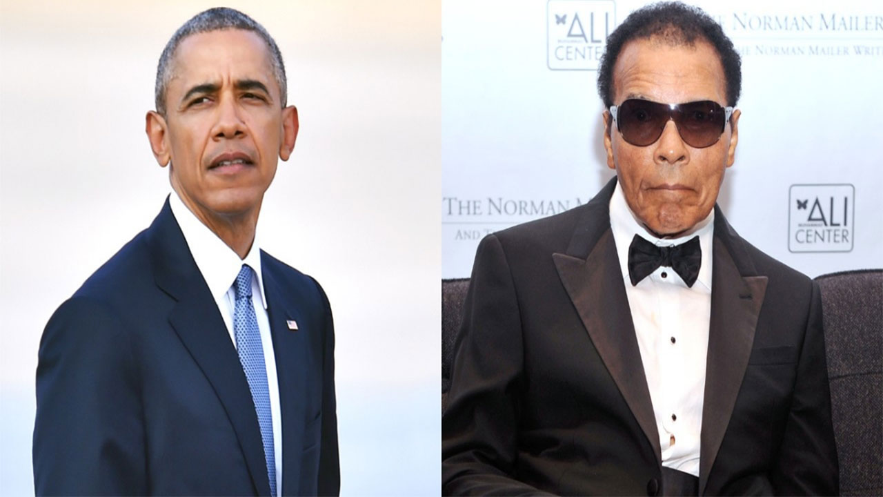 Late Muhammad Ali-and President Barrack Obama