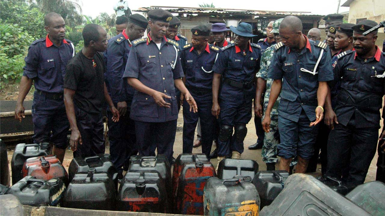 NSCDC nabs 4 suspects, destroys 200,000 litres of petroleum products