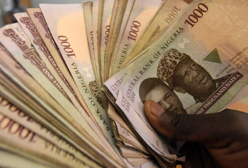 The naira plunges against the US dollar after Nigeria's government scraps its fixed exchange rate. PHOTO: AFP/PIUS UTOMI EKPEI