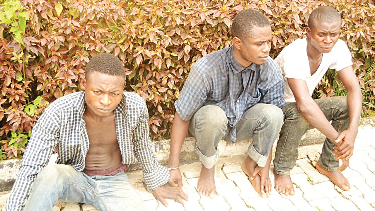 (File PHOTO) Suspects paraded by the Police