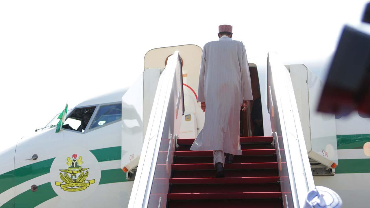 President Buhari departs for UK.