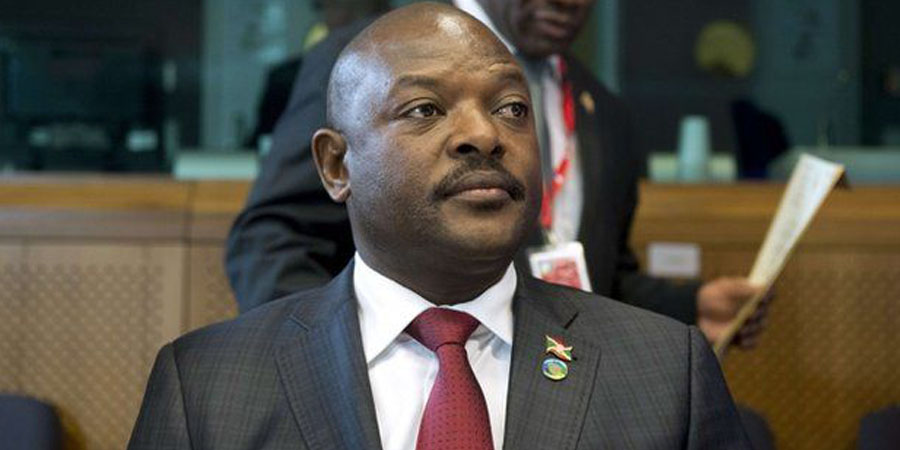 Nkurunziza. PHOTO:AFP