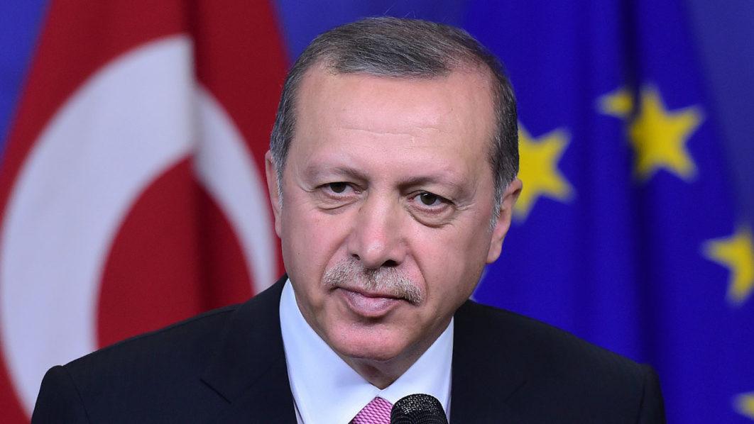 Recep Tayyip Erdogan / AFP PHOTO / Emmanuel DUNAND