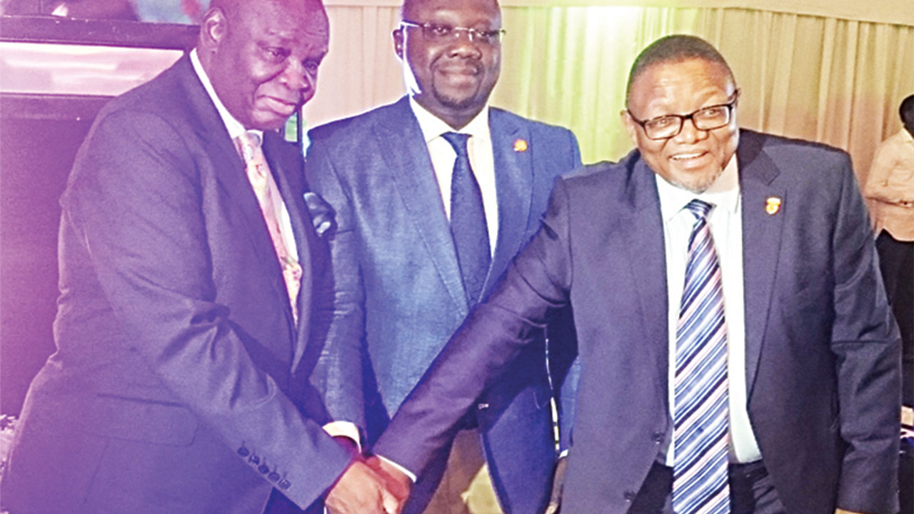 L-R: Ambassador Lulu Louis Mnguni, South Africa High Commissioner to Nigeria; Professor Ademola Abbas, representative of Governor of Lagos State and Mr. Darkey Africa, South Africa Consul-General in Lagos.