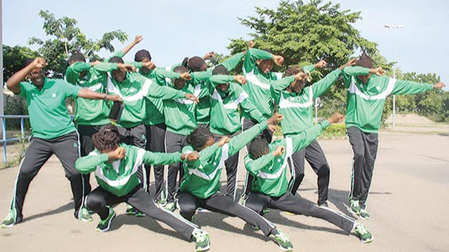 Nigeria's women U-17 basketball team, which failed to attend the U-17 World Championship in Spain because of visa issues.