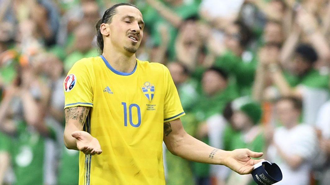 Sweden's  Zlatan Ibrahimovic . / AFP PHOTO / JONATHAN NACKSTRAND