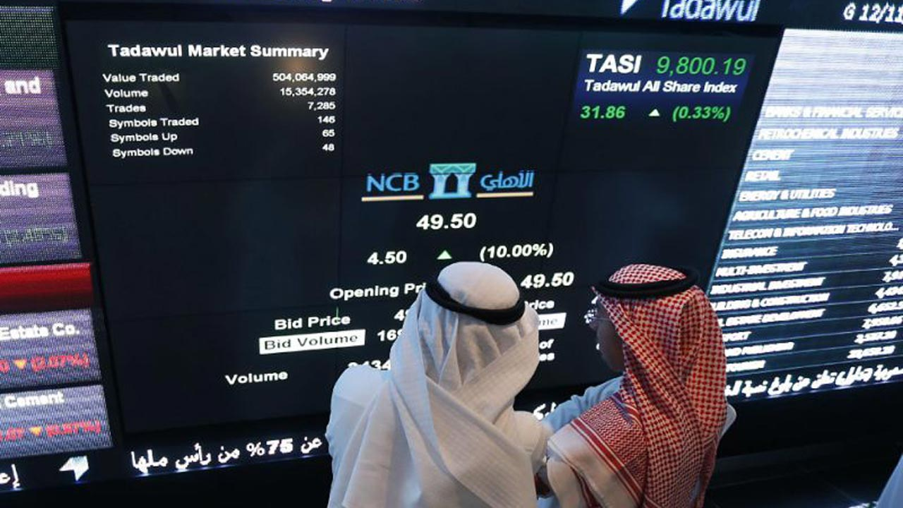 The Saudi Tadawul All-Shares Index, the largest in the Arab world, dipped 3.3% to close on 8,119.08 points, a 12-month low (AFP Photo/Fayez Nureldine)