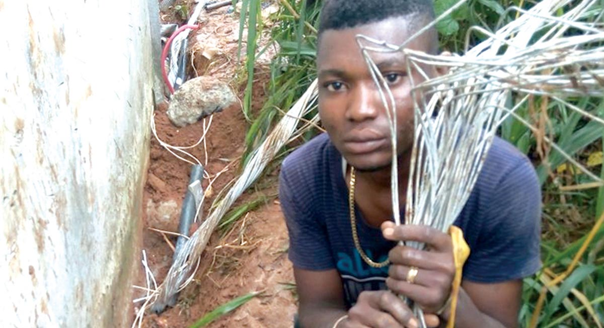 Suspected cable thief