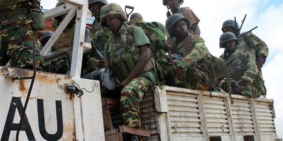 AU troops. PHOTO:AFP