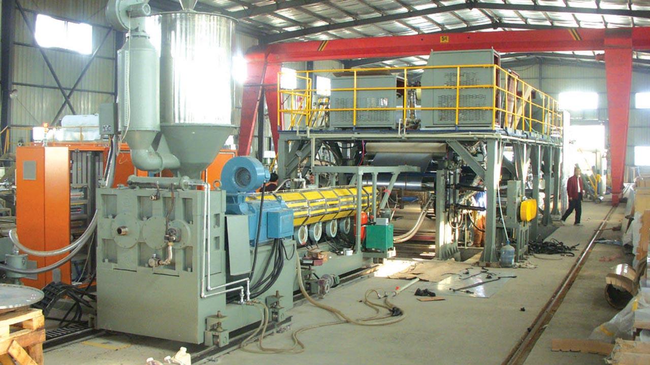 Aluminum plastic composite panel manufacturing line