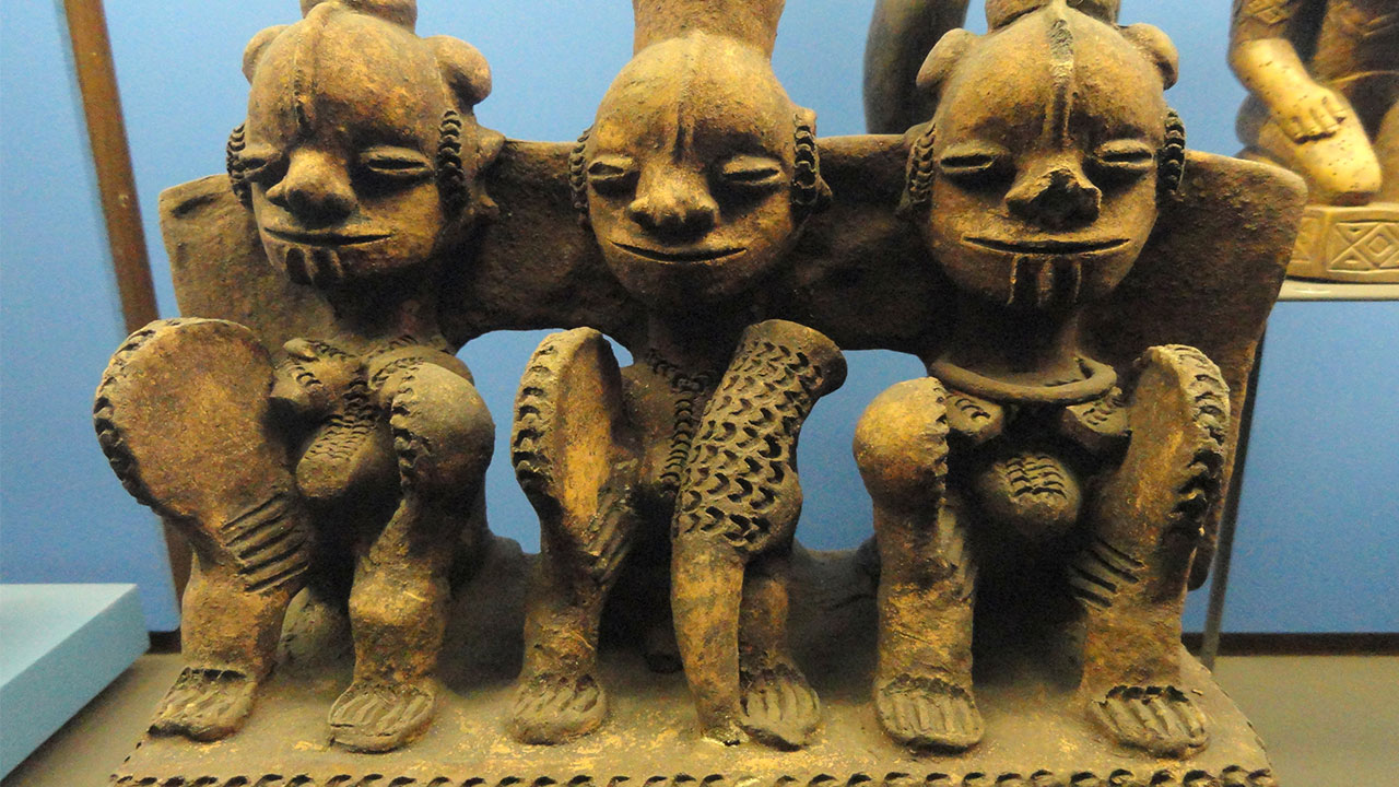 Shrine representation of the Alusi, one of the deities in Igbo land whom some sacrifes are made to