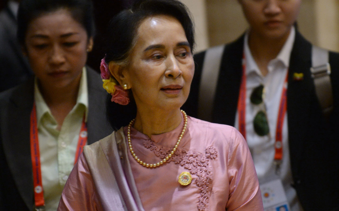 Myanmar's State Councellor and Foreign Minister Aung San Suu Kyi/ AFP PHOTO / HOANG DINH NAM