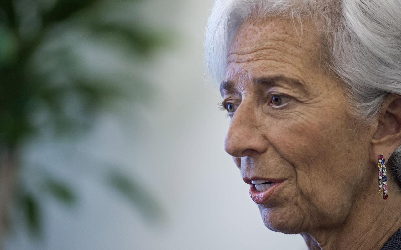 International Monetary Fund (IMF) Managing Director Christine Lagarde. / AFP PHOTO / PAUL J. RICHARDS