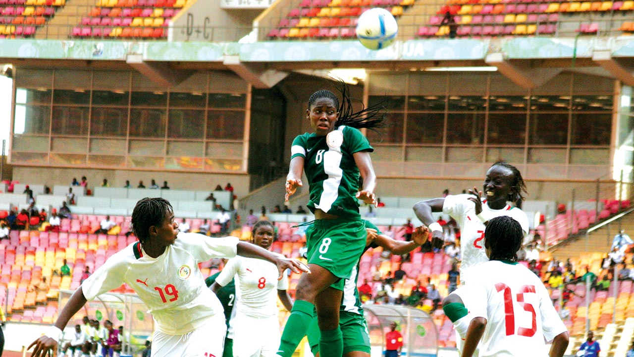 Super Falcons beat Senegal to qualify for the Cameroun 2016 African Women Championship.