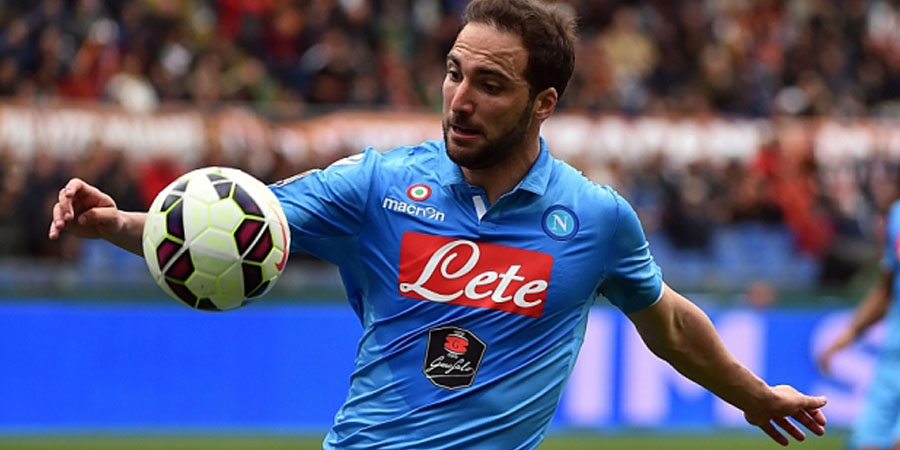 Napoli's forward from Argentina Gonzalo Higuain.  AFP PHOTO / GABRIEL BOUYSGABRIEL BOUYS/AFP/Getty Images