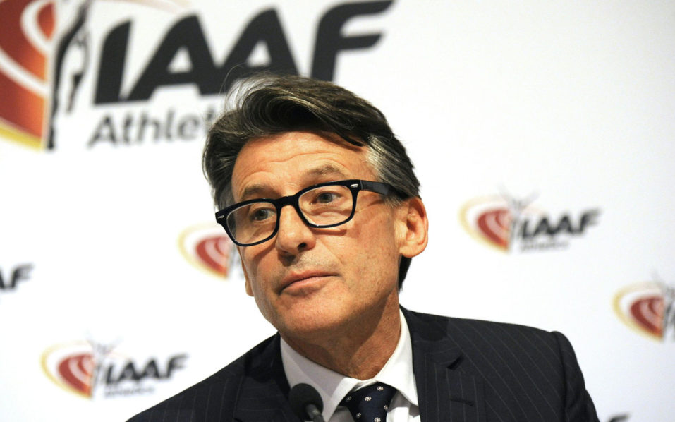 "(FILES) This file photo taken on June 17, 2016 shows the International Association of Athletics Federations (IAAF) President Sebastian Coe looking on during a press Conference at the IAAF-Council in Vienna.    The International Olympic Committee on July 24, 2016, decided not hit Russia with a blanket for the Rio Games over state-run doping, but said each sports federation needed to establish an athlete's individual eligibility. Federations ""should carry out an individual analysis of each athlete's anti-doping record, taking into account only reliable adequate international tests, and the specificities of the athlete's sport and its rules, in order to ensure a level playing field,"" the IOC said in a statement. / AFP PHOTO / APA / HERBERT PFARRHOFER"