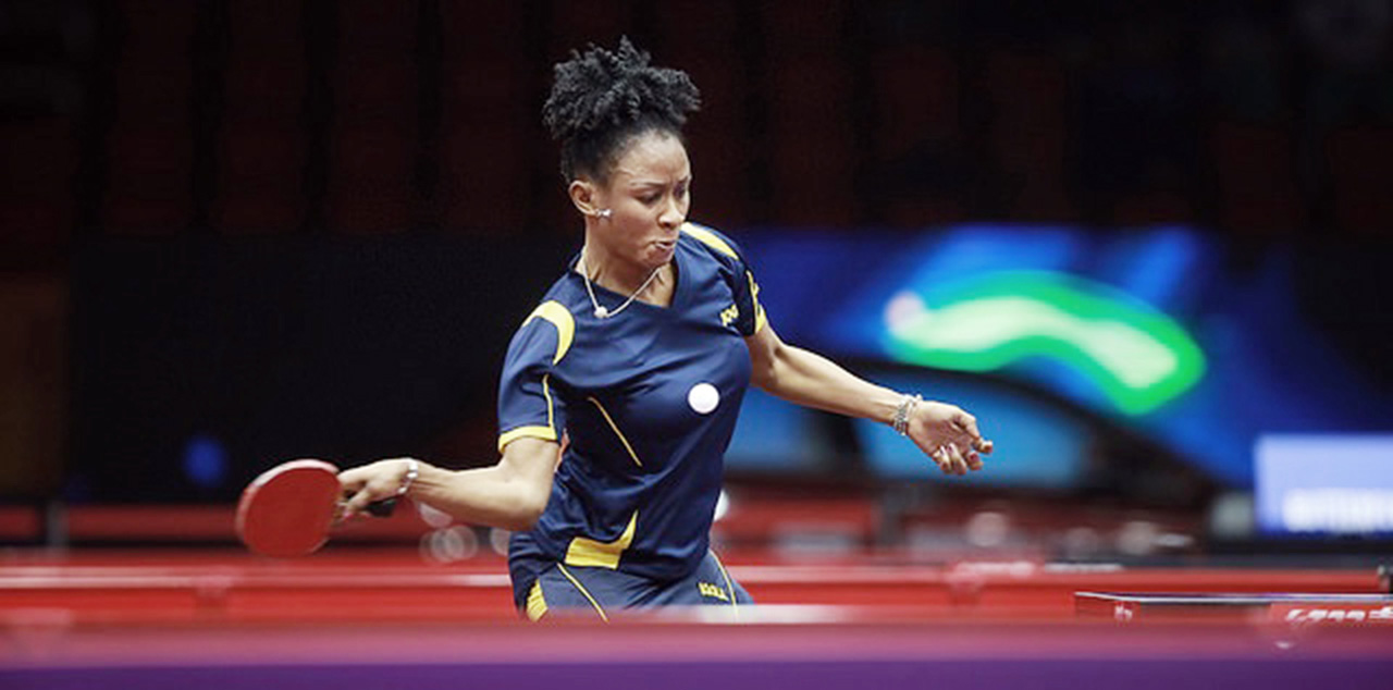 Funke Oshonaikle is Team Nigeria's assistant captain to the Rio 2016 Olympics. PHOTO: AFP.