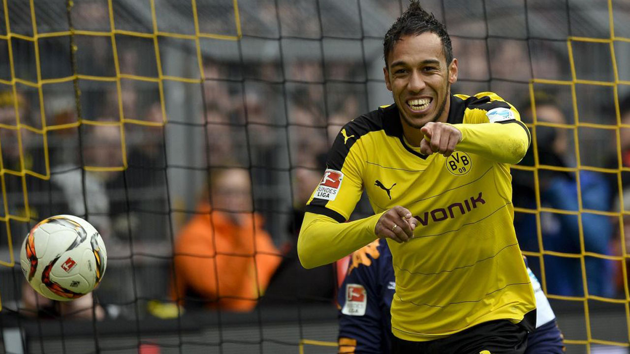 Pierre-Emerick Aubameyang. PHOTO:AFP