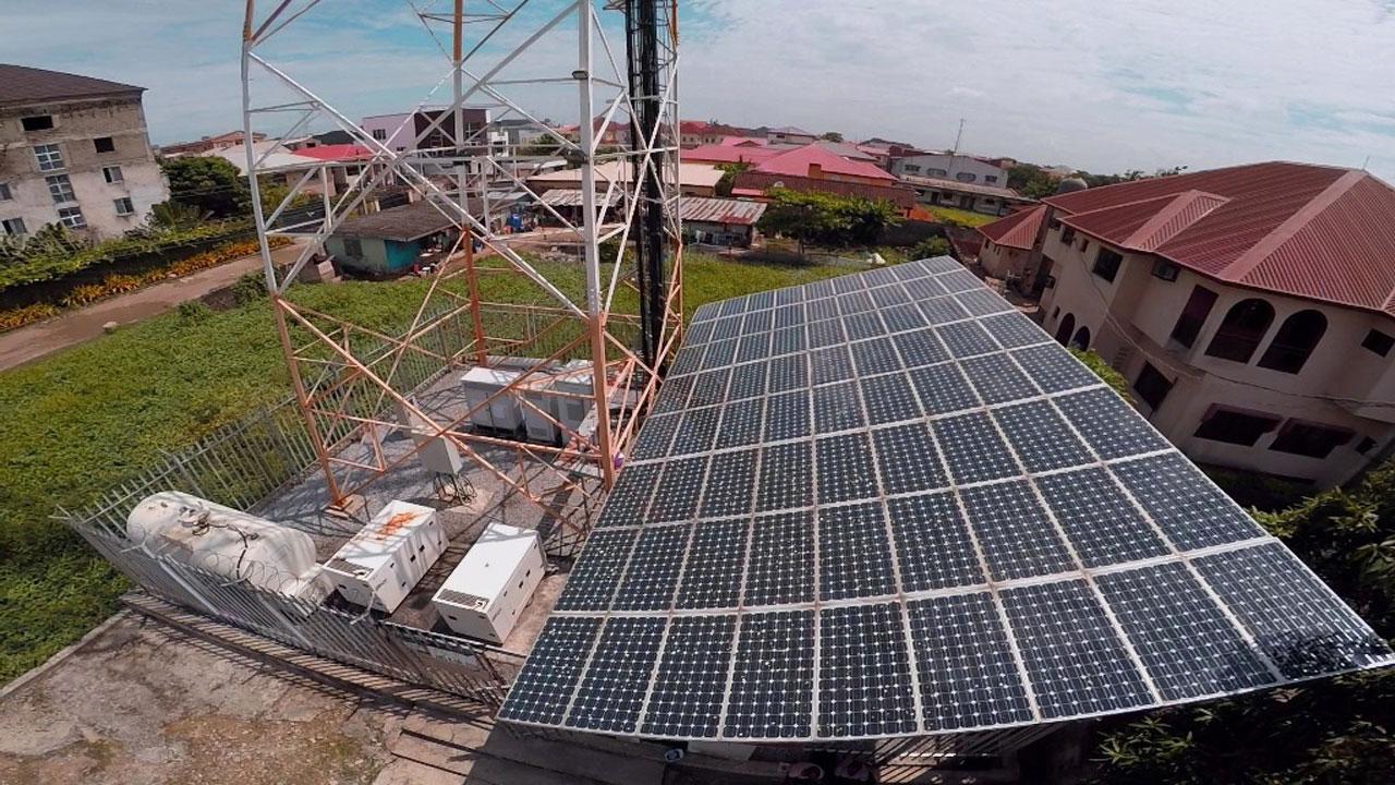A solar powered BTS
