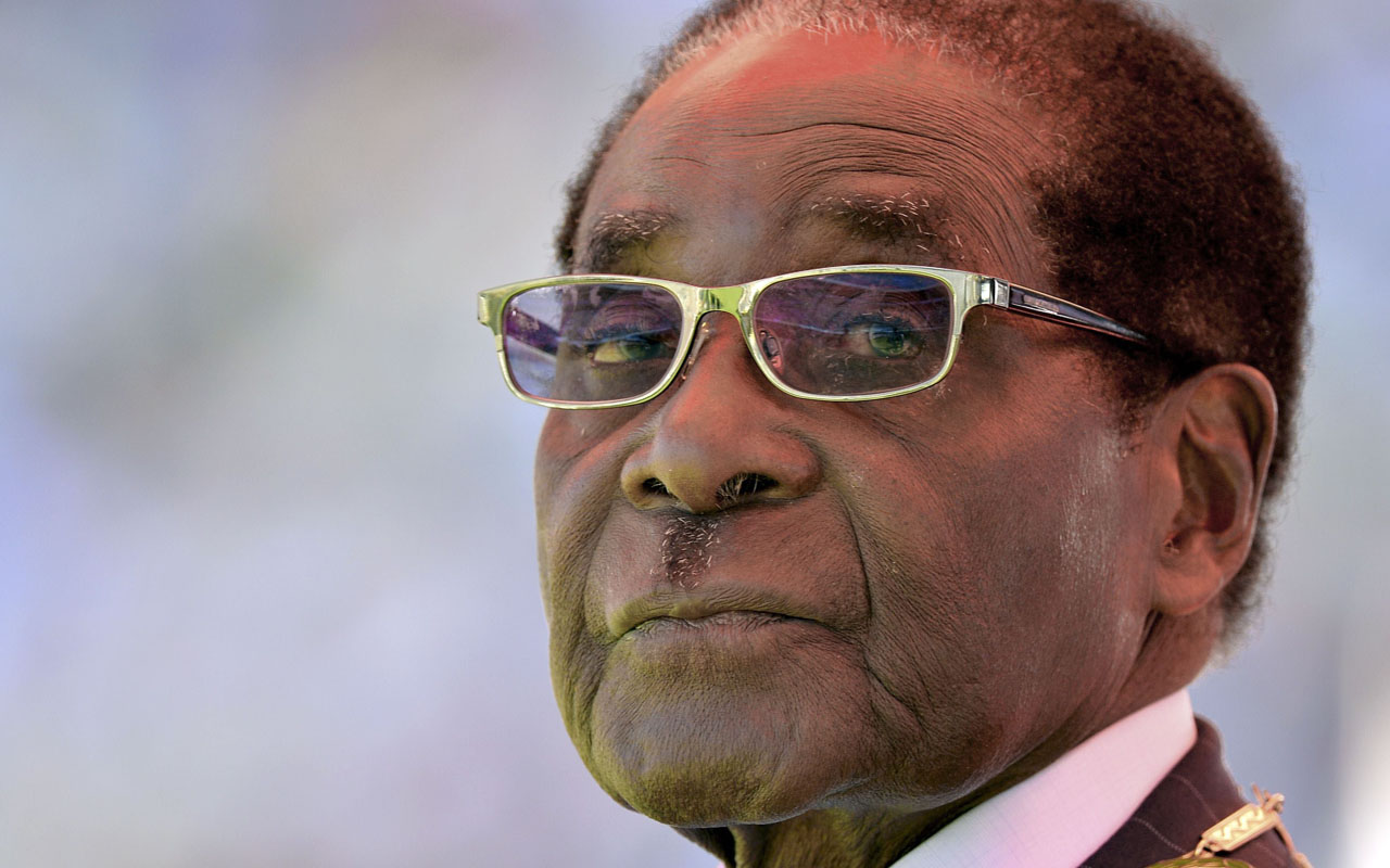 Zimbabwean President Robert Mugabe. AFP PHOTO / ALEXANDER JOE