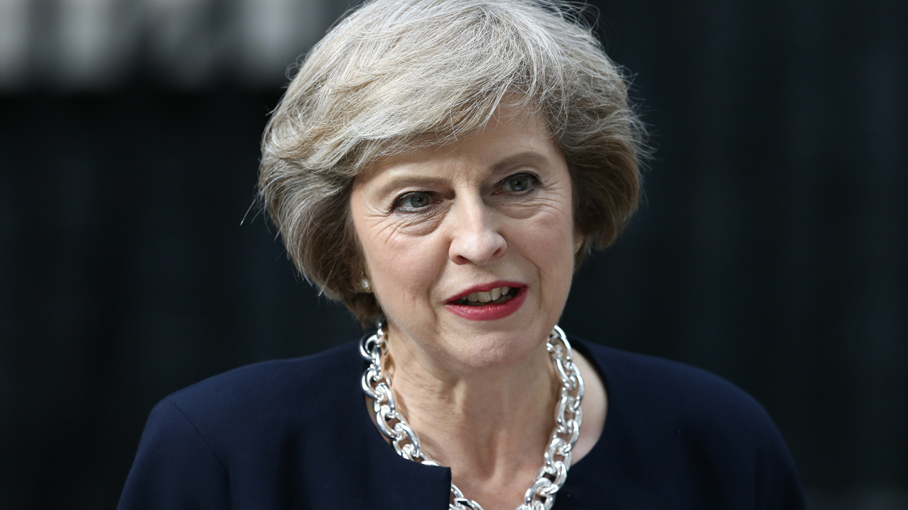 Britain's Prime Minister Theresa May. / AFP PHOTO / JUSTIN TALLIS