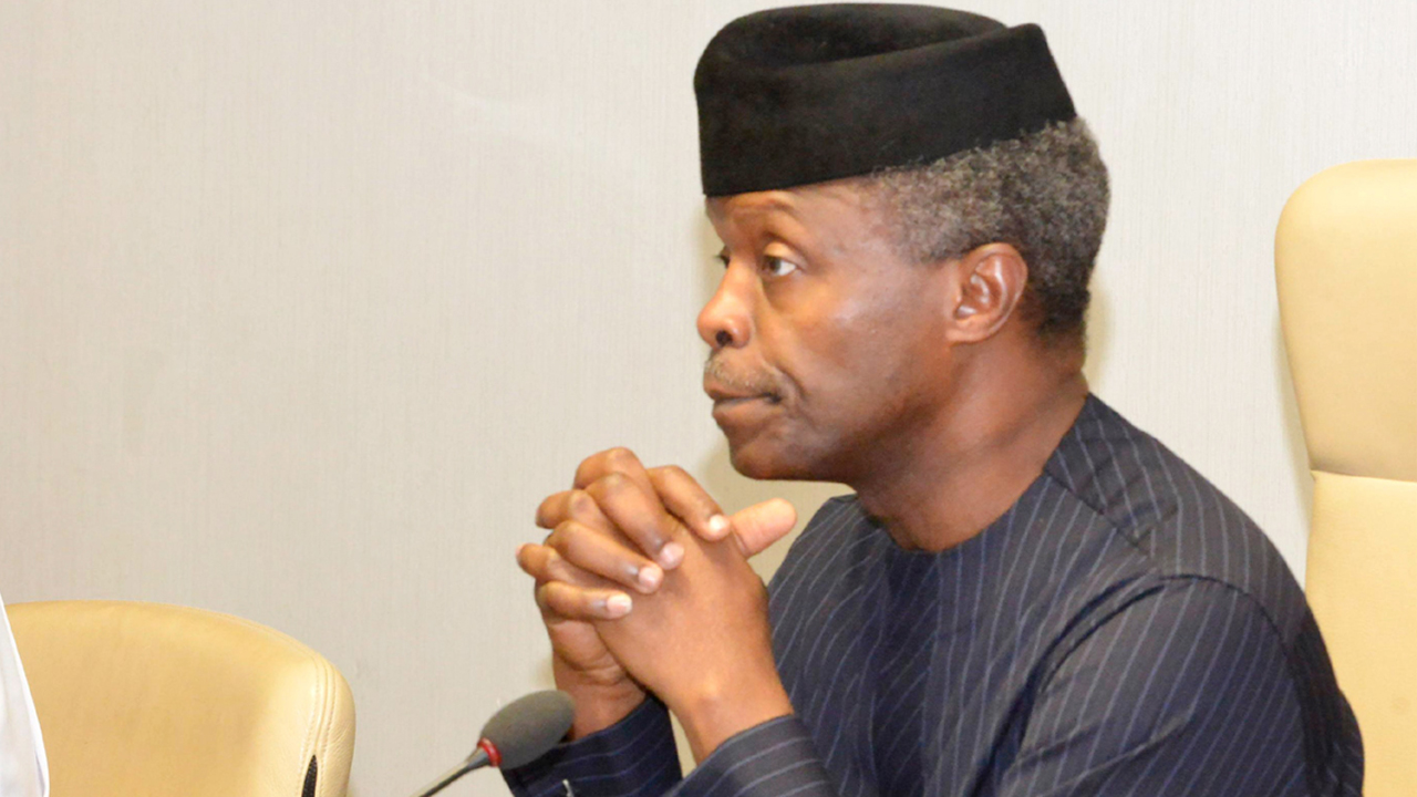 Vice President Yemi Osinbajo PHOTO: NAN