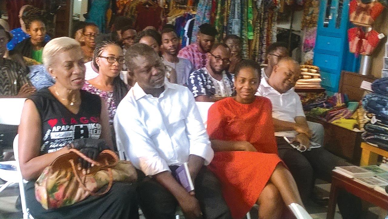 CORA board member, Mrs. Chinwe Uwatse; CORA Secretary, Mr. Toyin Akinosho and a guest at the Book Trek two weeks ago Saturday… in Lagos