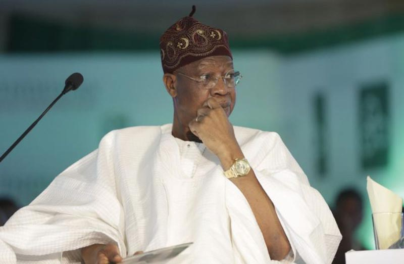 Minister of Information and Culture, Alhaji Lai Mohammed.