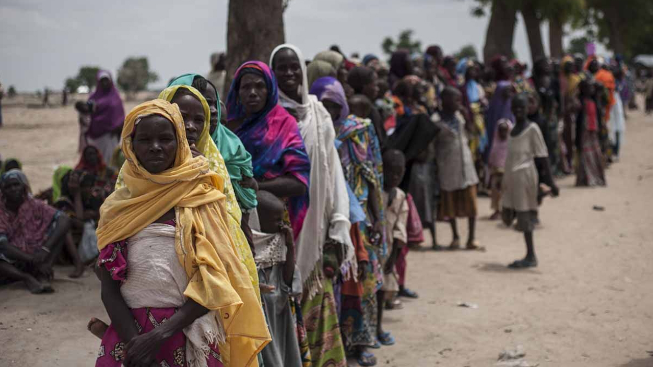 Nigeria has pledged to do more to tackle food shortages among people made homeless by Boko Haram. PHOTO: AFP / STEFAN HEUNIS