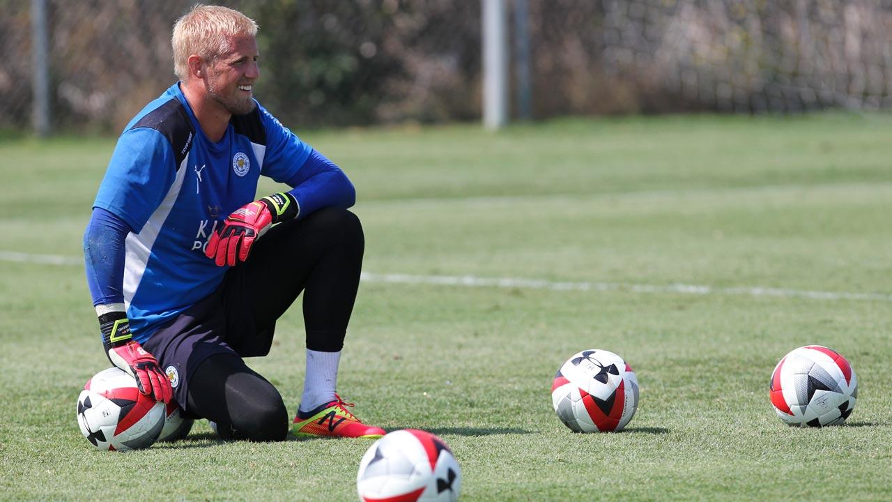 Leicester City F.C. goalkeeper Kasper Schmeichel. RINGO CHIU / AFP
