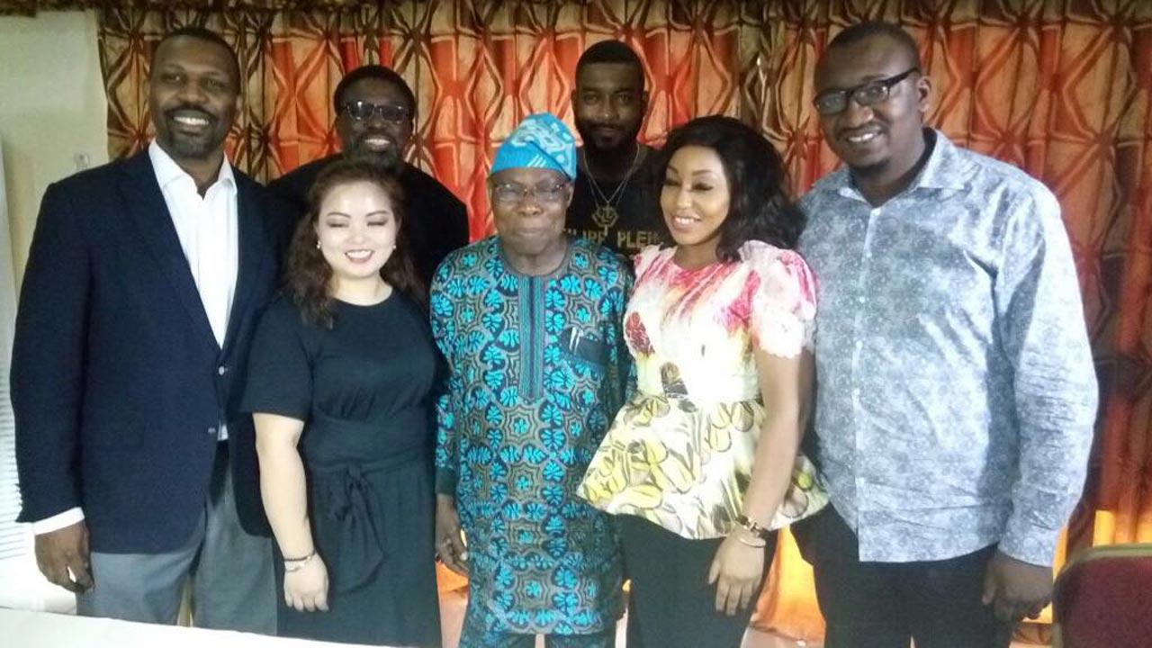 Former President Obasanjo and the '76 team