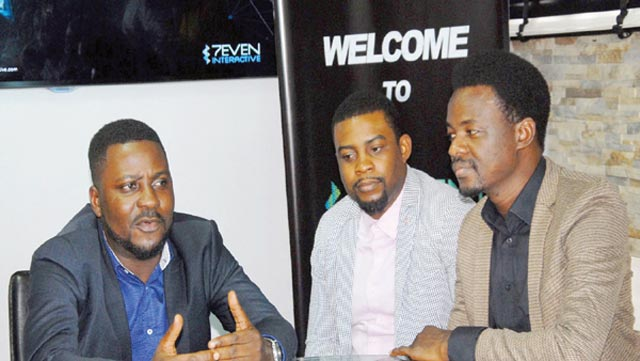 L-R:Chief Operating Officer (COO), 7even Interactive, Taiwo Agboola; Head of Creative, Ndukwe Onuoha; and Head, Media, Tayo Kolawole.