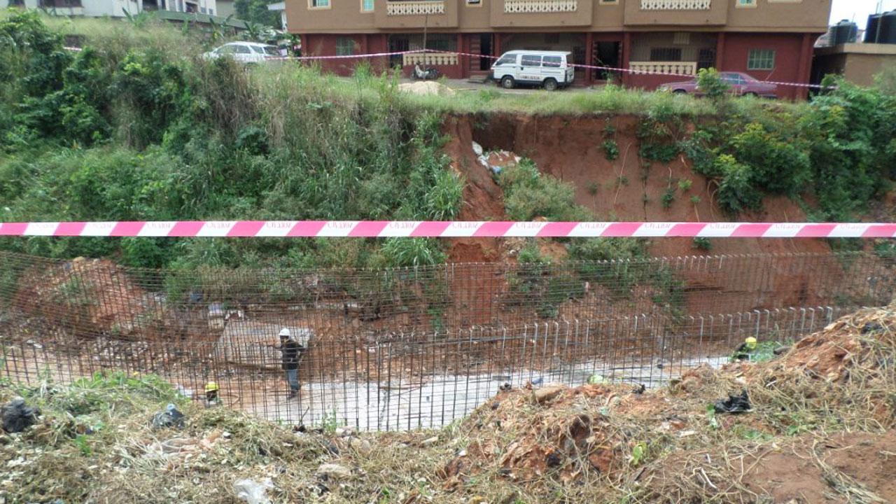 Erosion site at Abagana